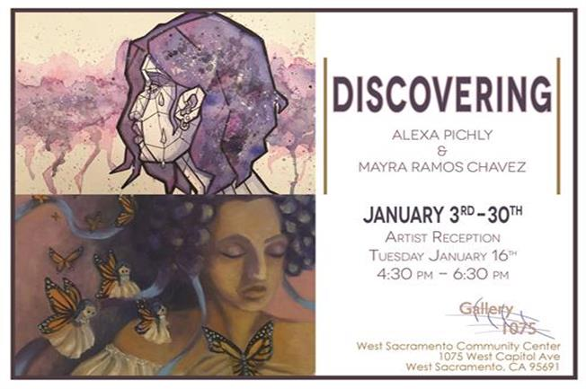 Discovering art exhibit flyer jan 3rd-jan 30