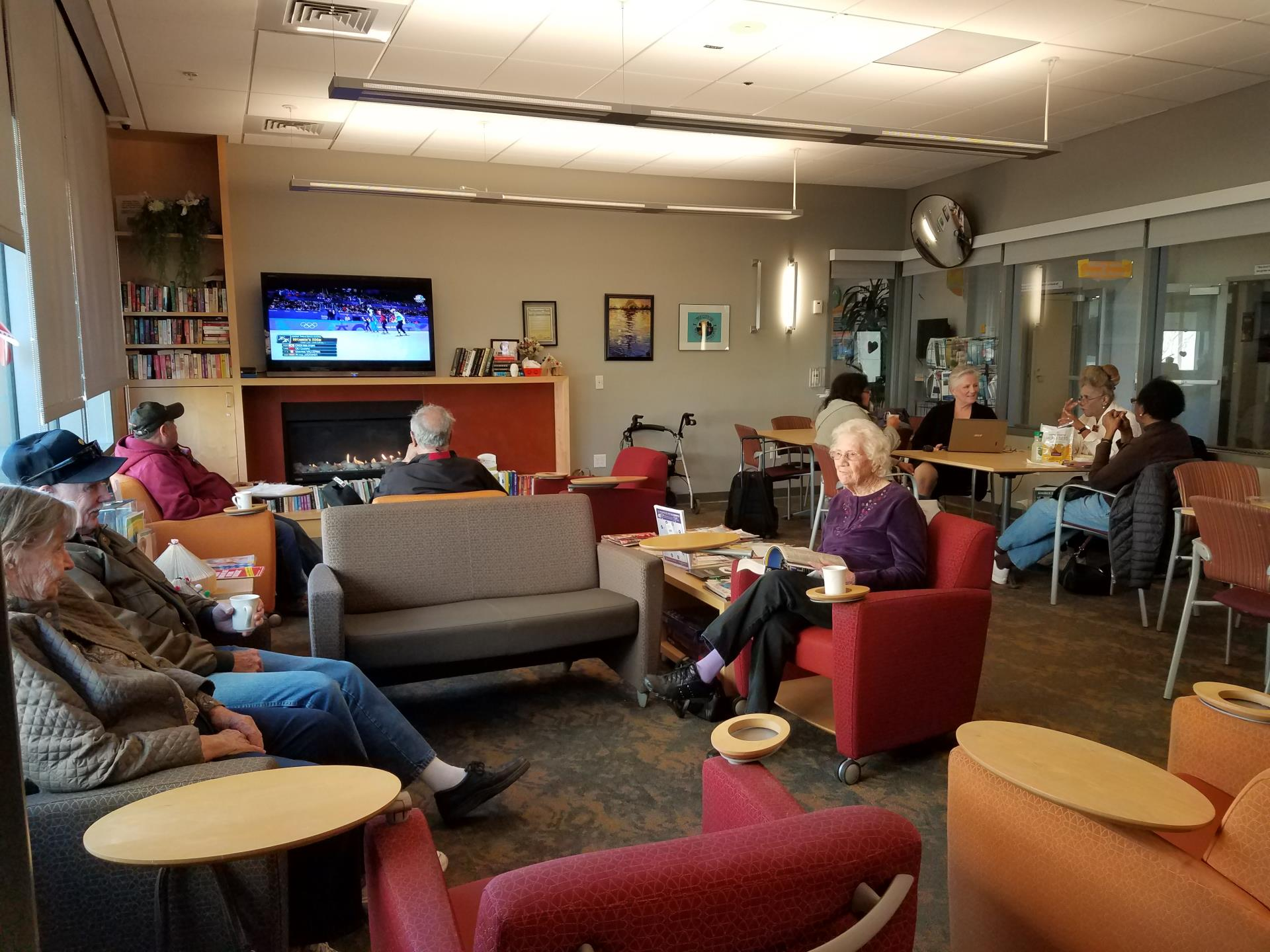 Seniors Enjoying The Lounge located in the Community Center