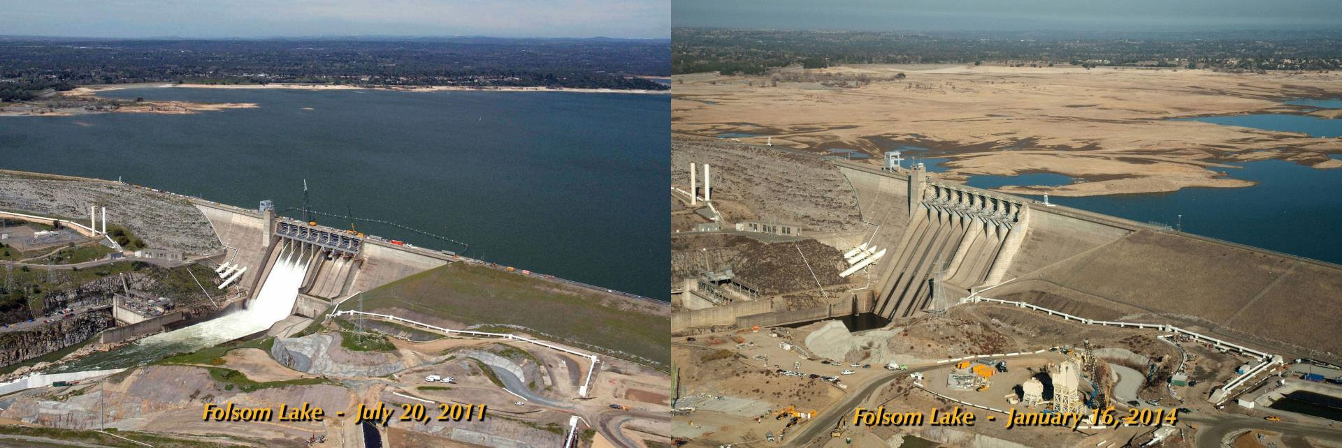 Folsom Lake Before and After Drought