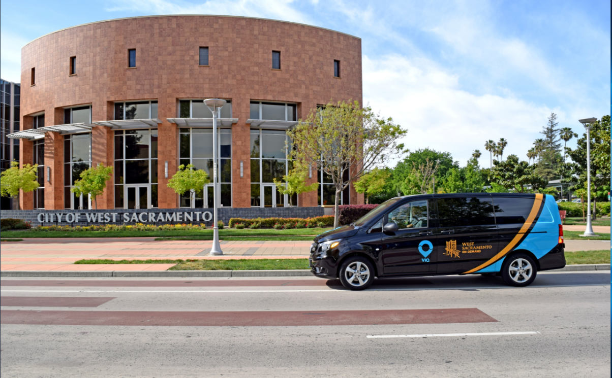 rideshare-van-West Sacramento City Hall