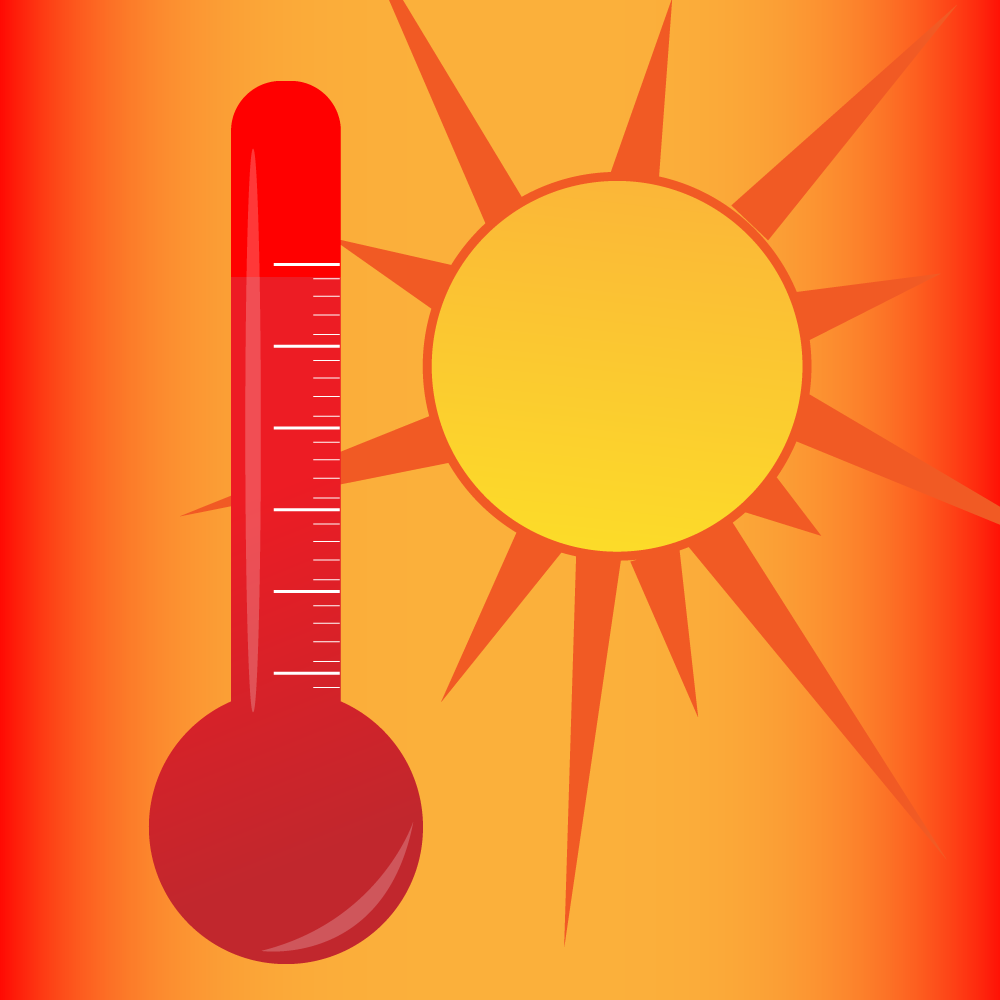 Image of hot sun and thermometer