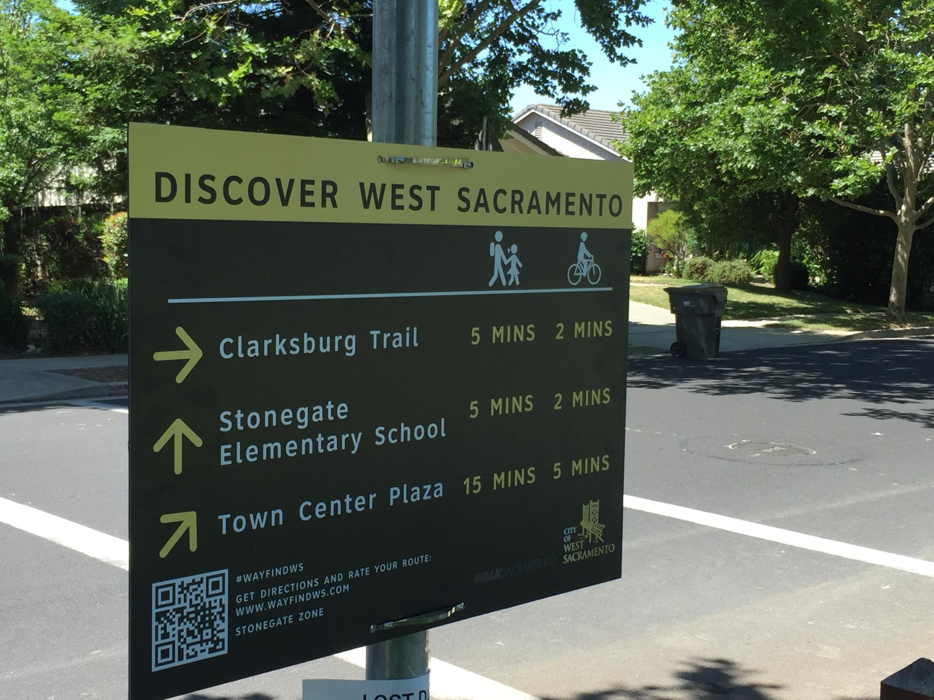 Southport Gateway Park wayfinding sign