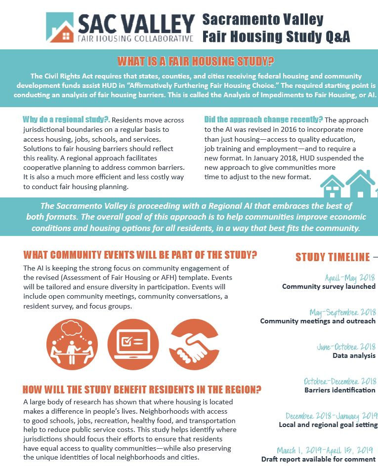 Sacramento Valley Fair Housing Survey Flyer