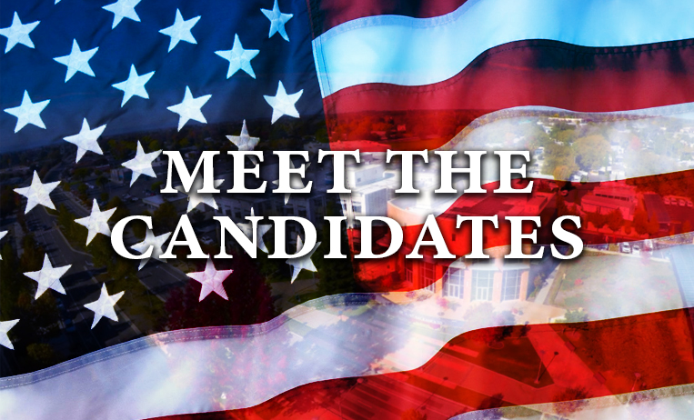 Meet the candidates election graphic