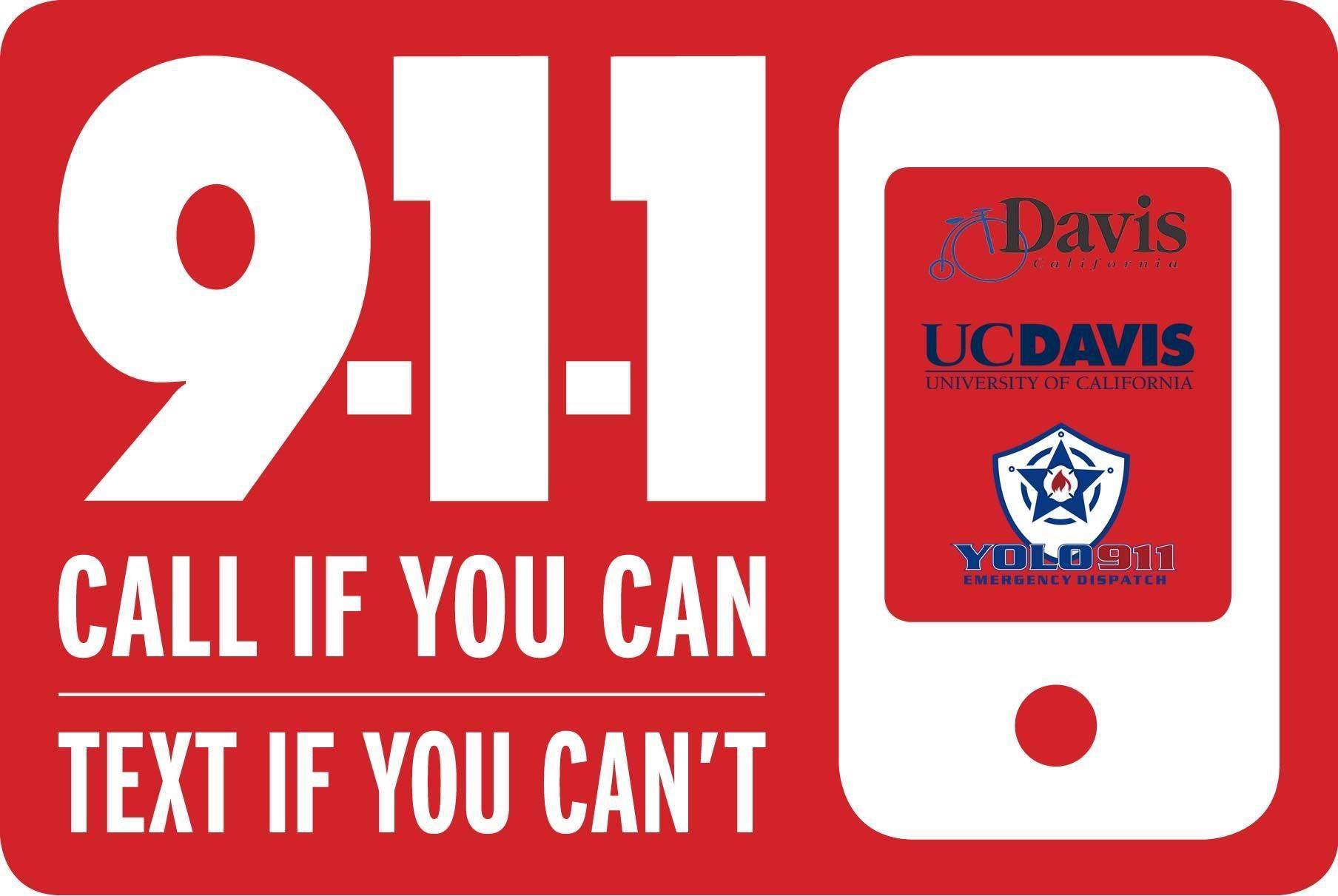 yolo county text 911 graphic 2018