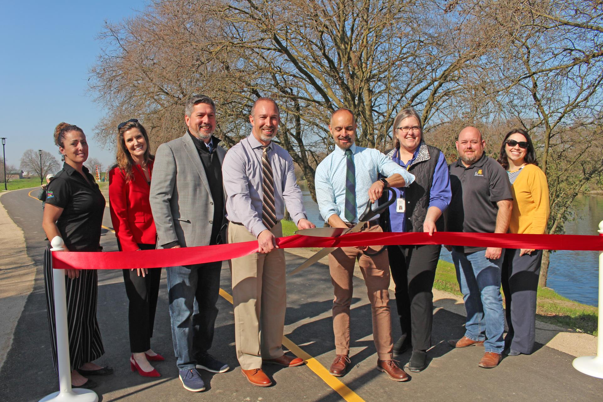Barge Canal Trail Ribbon Cutting