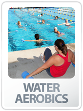 water aerobics button