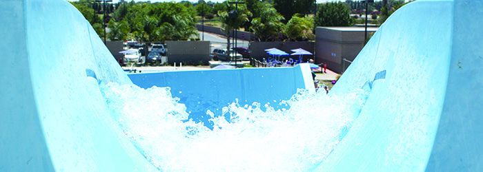Recreation Center Blue Water Slide