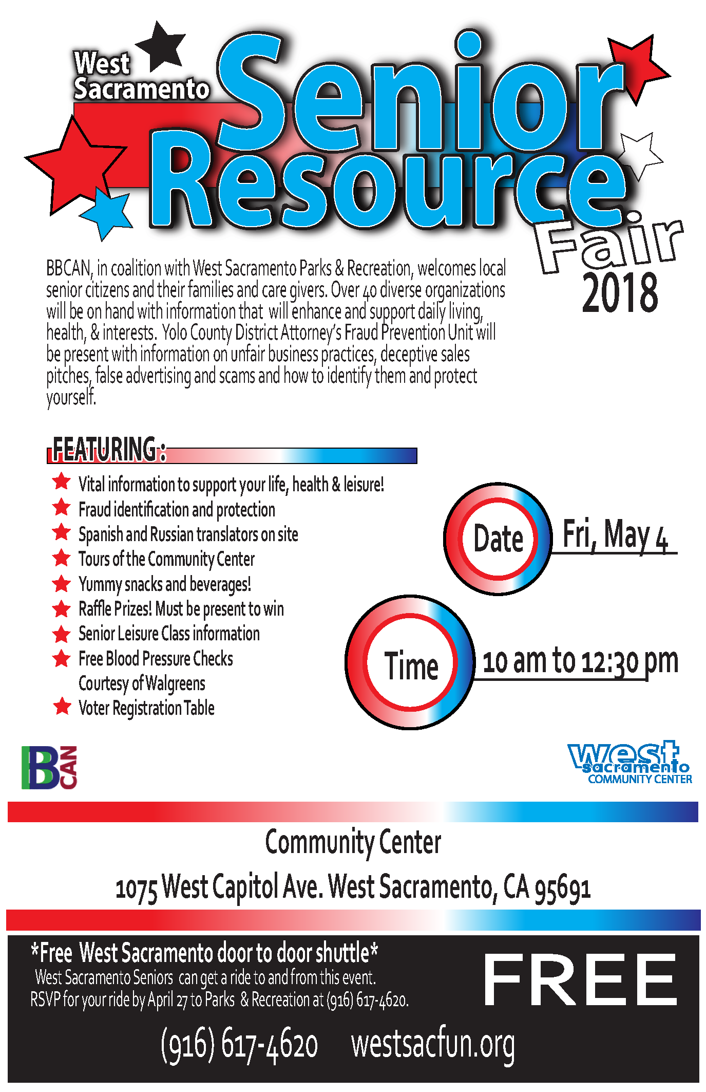 Senior Resource Fair in west sacramento on may 4th 2018