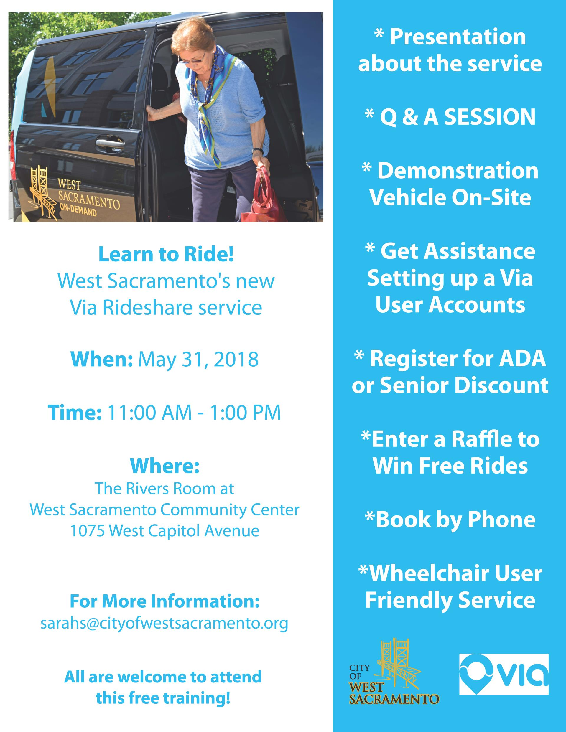 Age friendly flyer to via app event