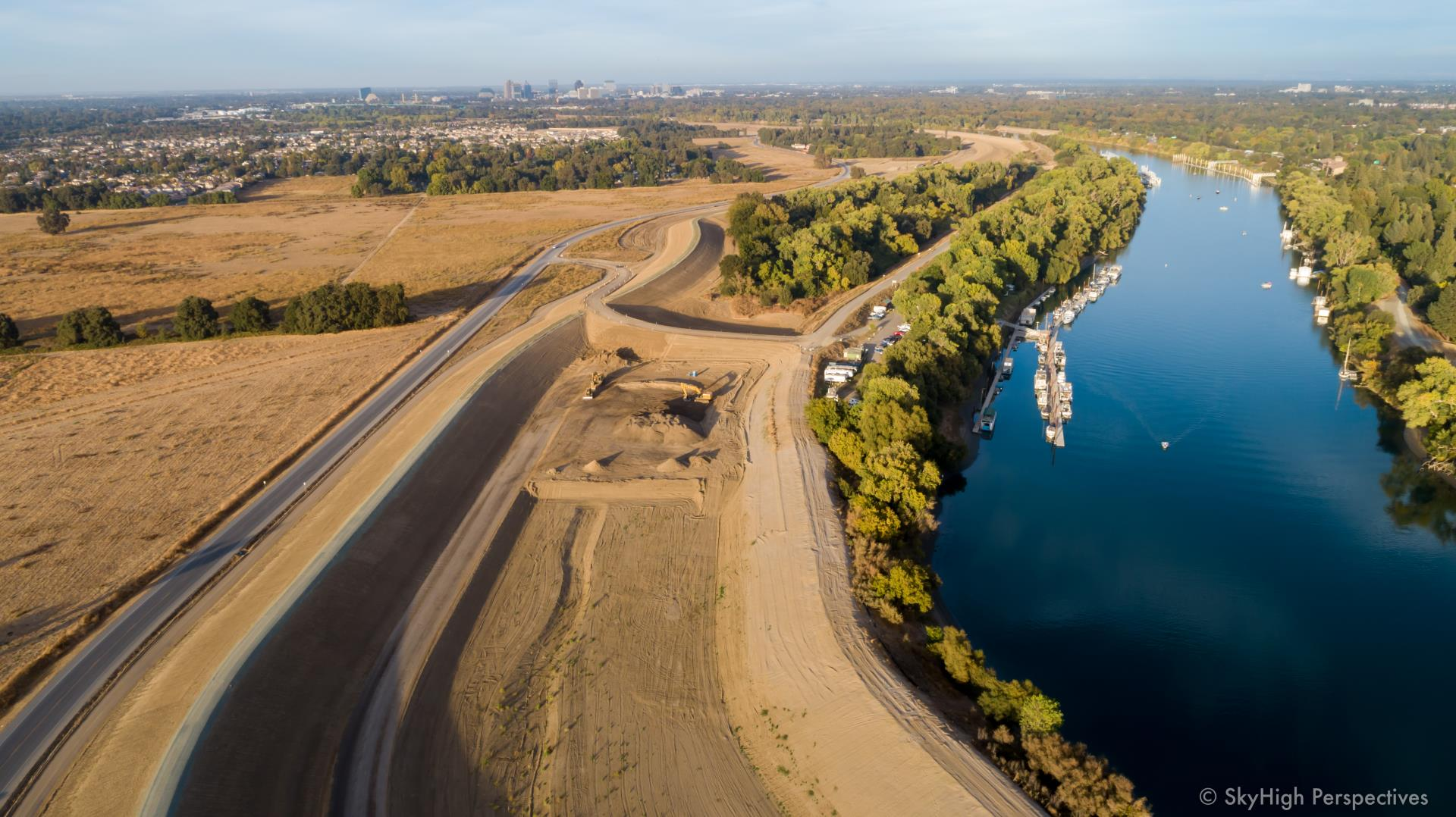 southport levee improvement project october progress