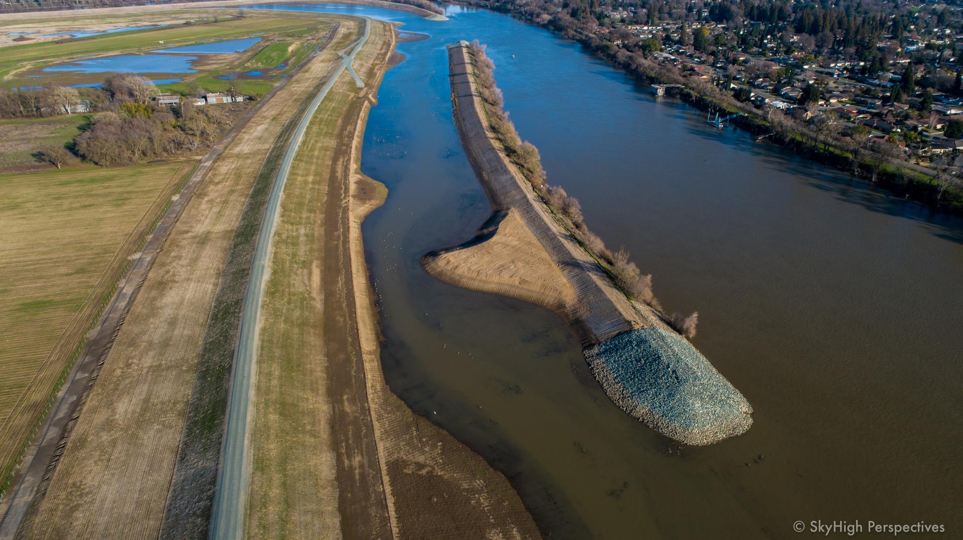 levee setback on river jan 2019
