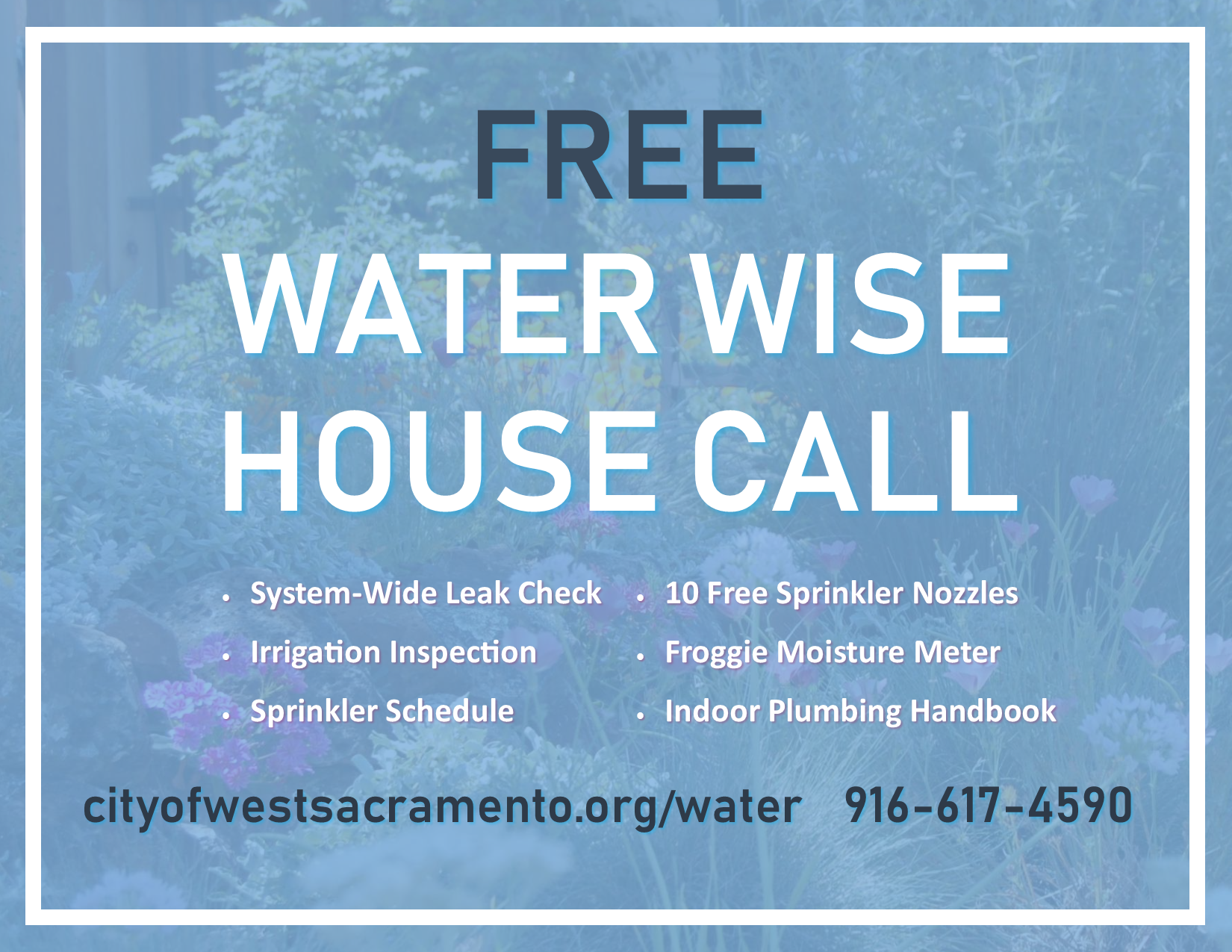 Water Wise House Call flyer