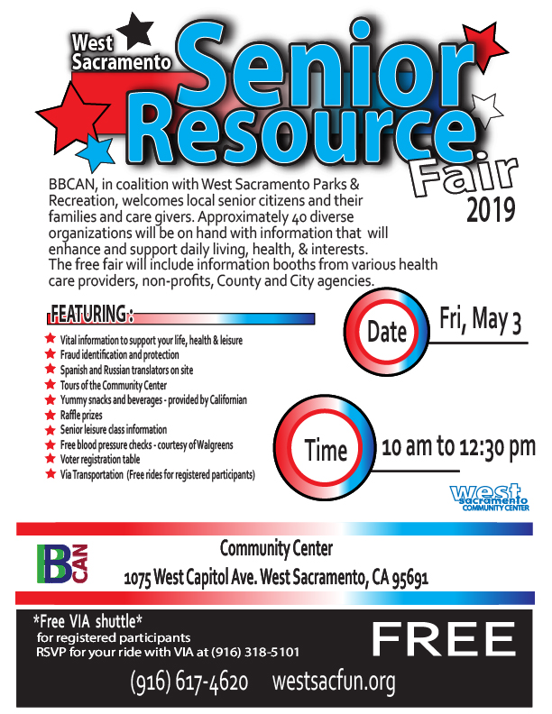 Senior Resource Fair on May 3rd at community center