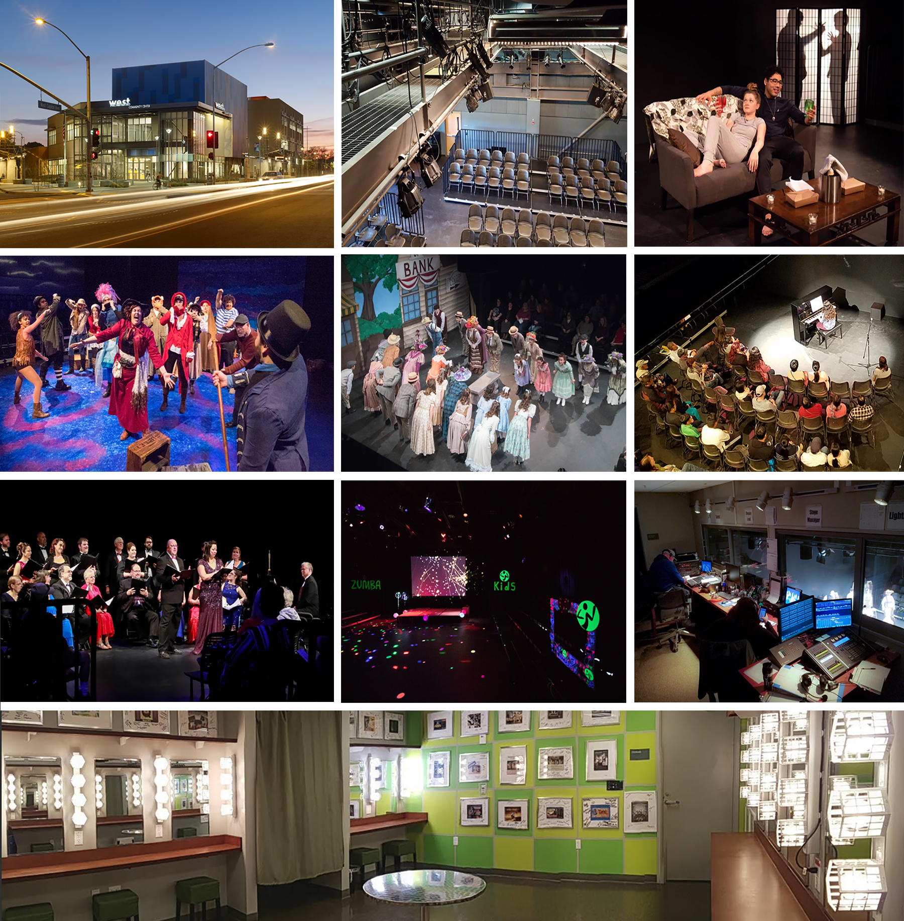 Variety of images of the theater facilities and use