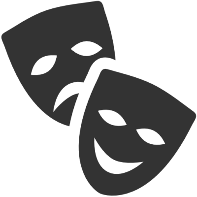 Comedy Tragedy masks logo
