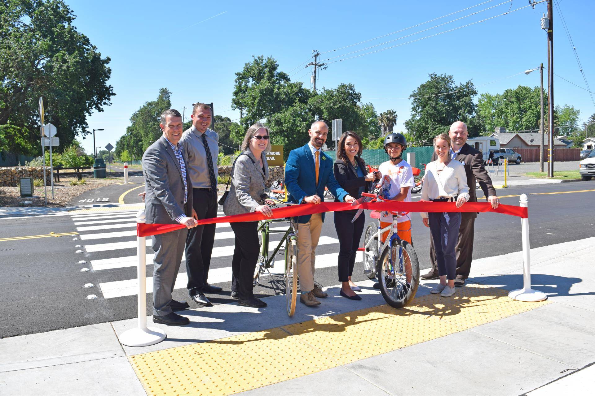 Ribbon cutting of sycamore trail new segment