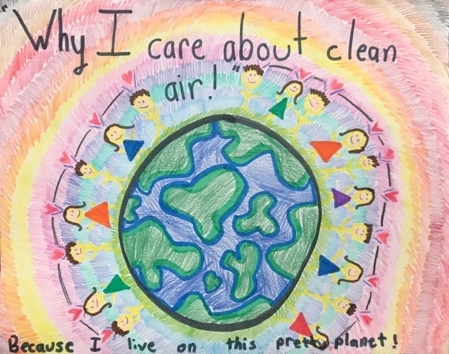Naomi Lemos drawing of earth for 2020 clean air calendar contest