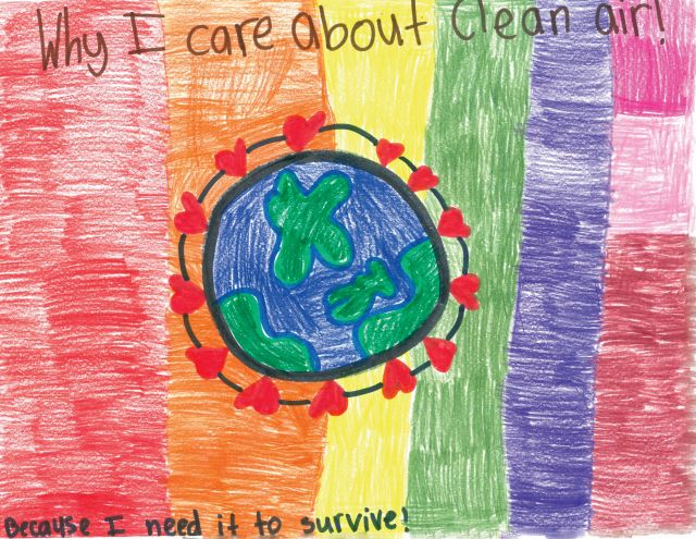 Samantha Taylor drawing of earth for 2020 clean air calendar contest