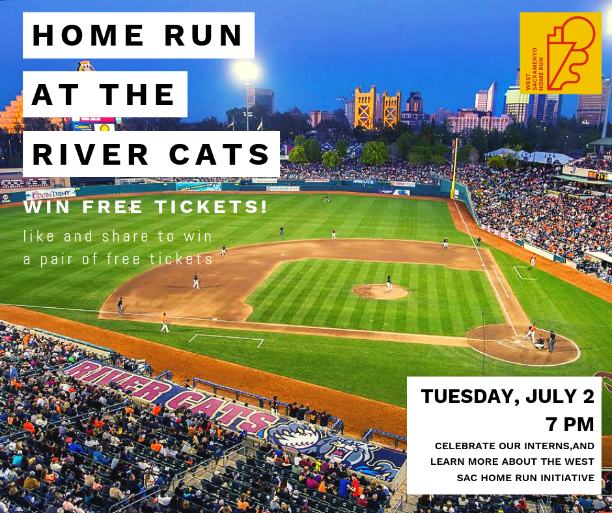 flyer of home run at the river cats contest