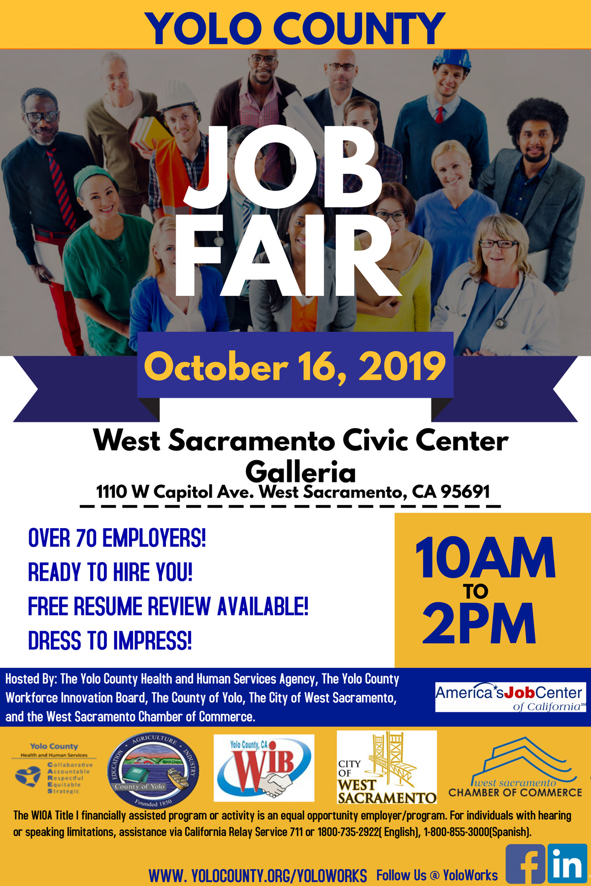 October 16th Job Fair Flyer Social Media