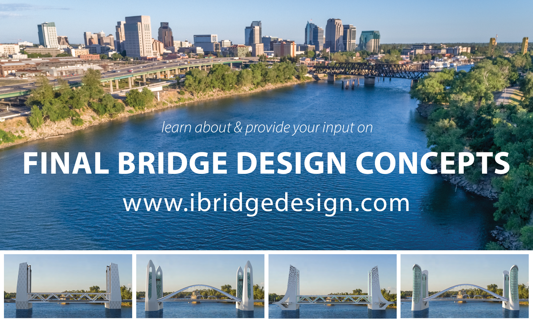 photo of four I Street Bridge replacement designs