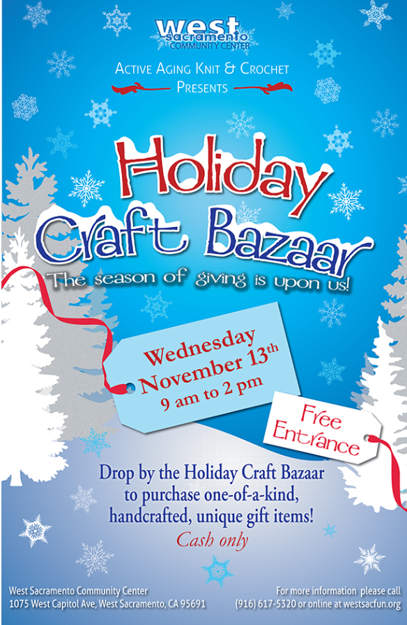 Holiday Craft Bazaar flyer for 2019