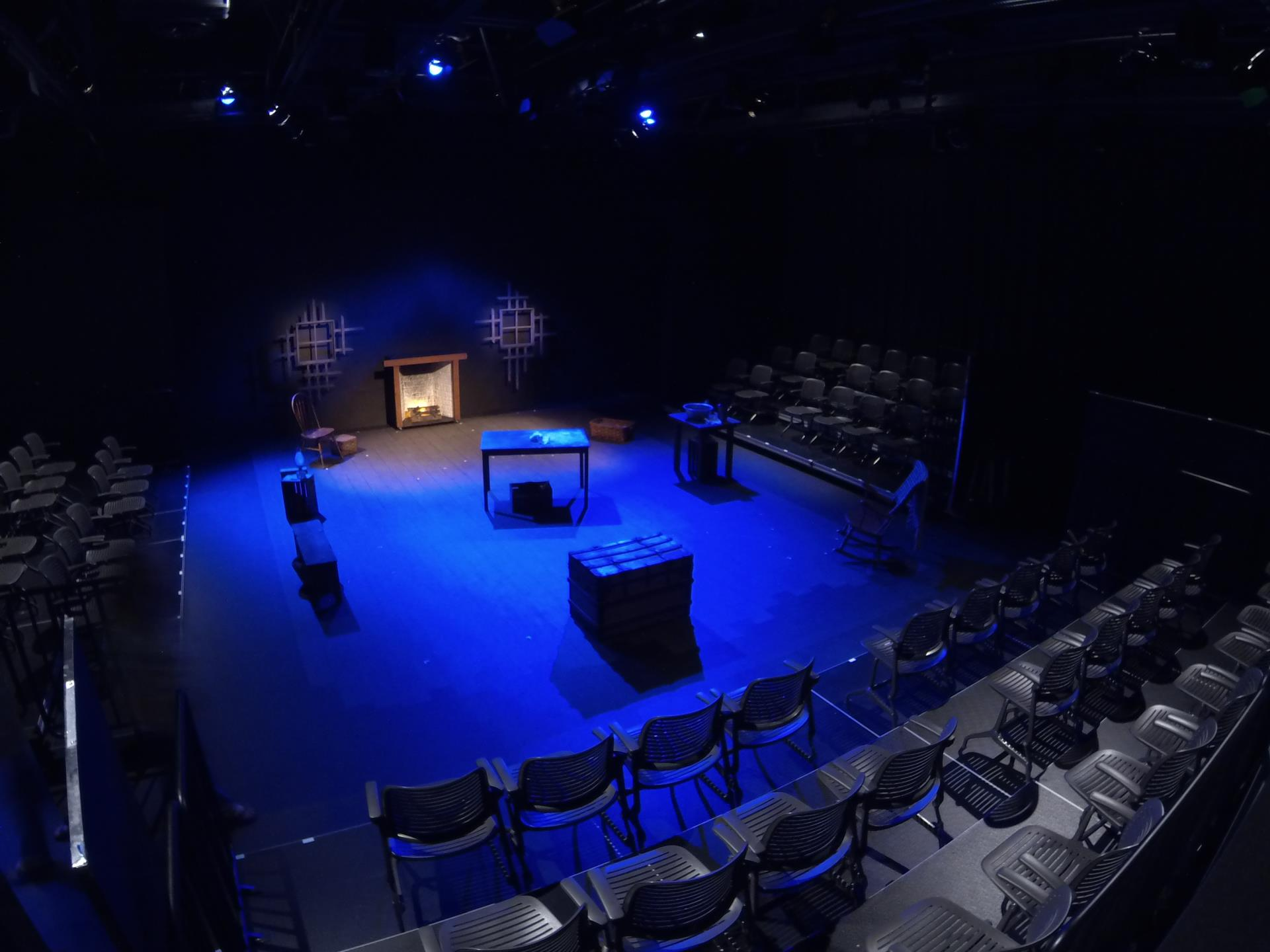 Photo of Black Box Theater set for a theatrical production