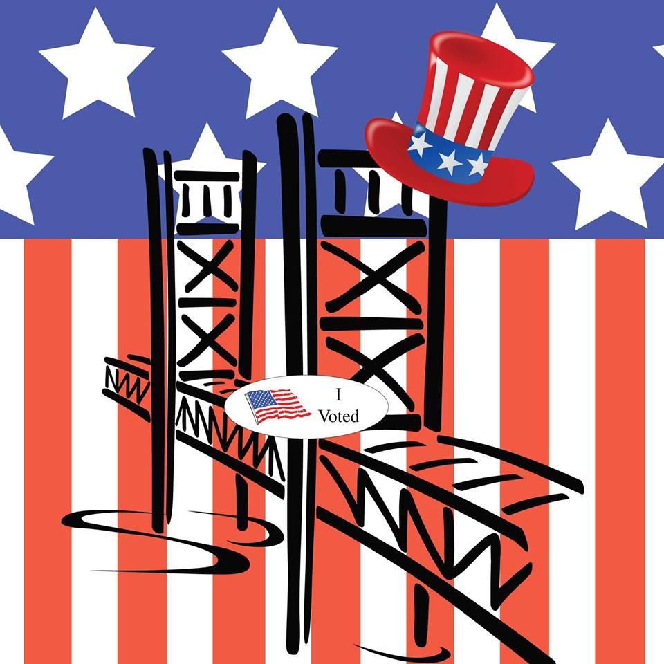 i voted election logo