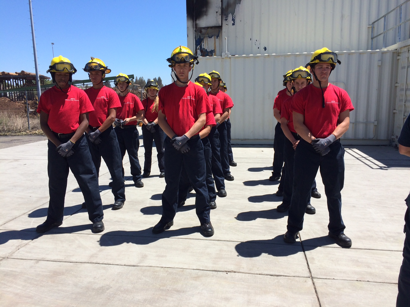 youth fire academy training at port of west sac