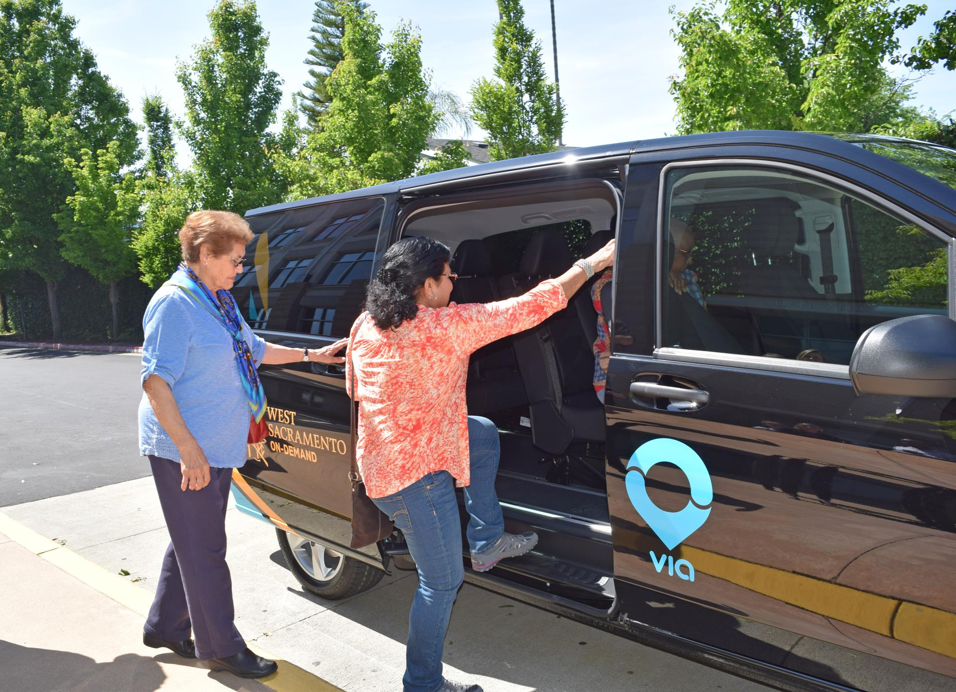 via picks up seniors in west sac to take them anywhere in the city