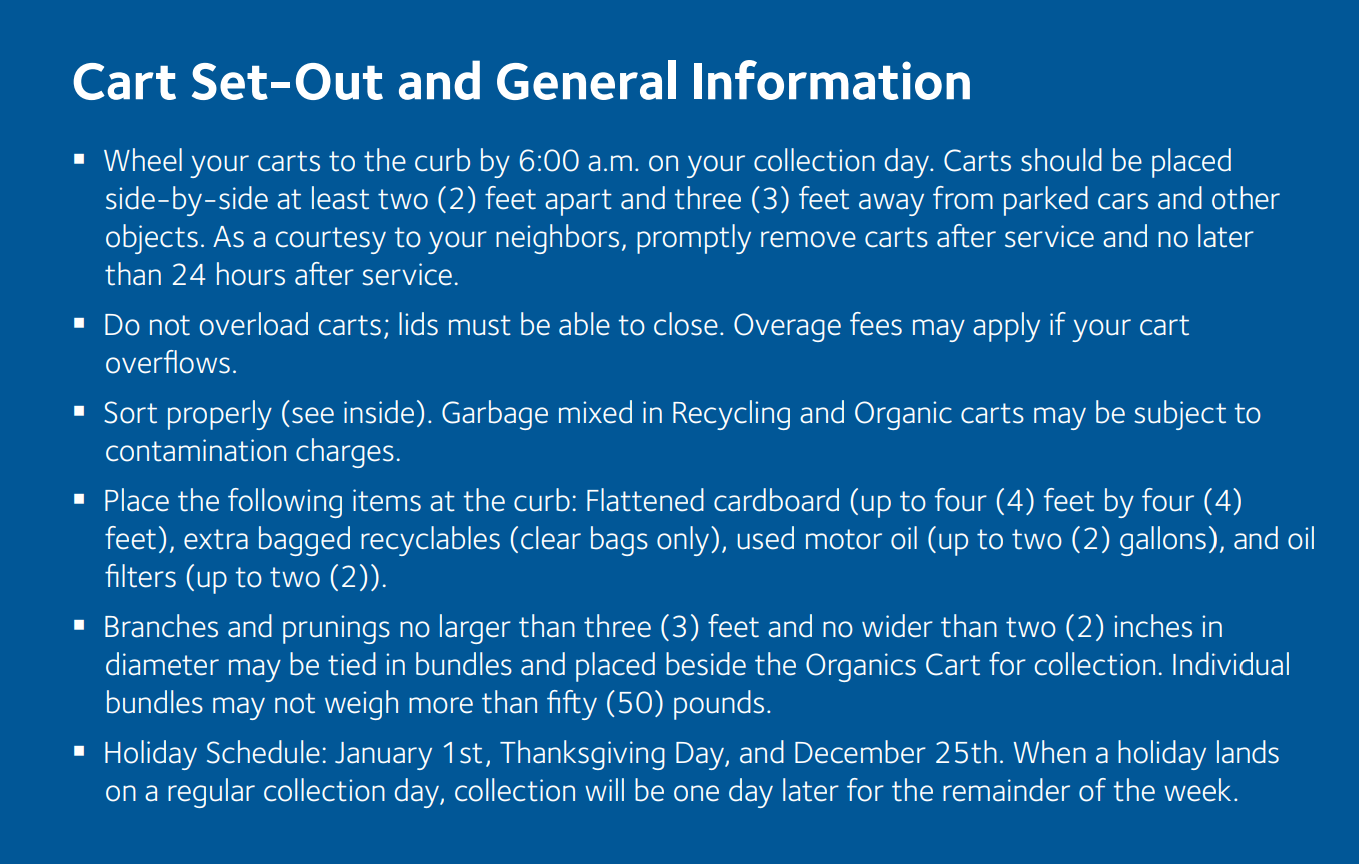 Cart-Set Out Instructions