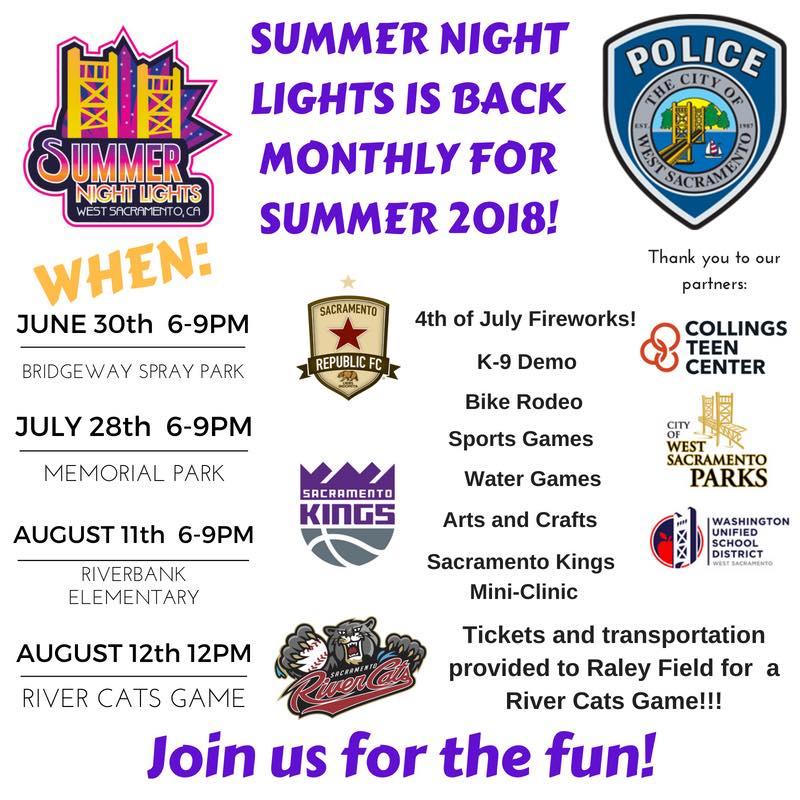 2018 summer night lights flyer