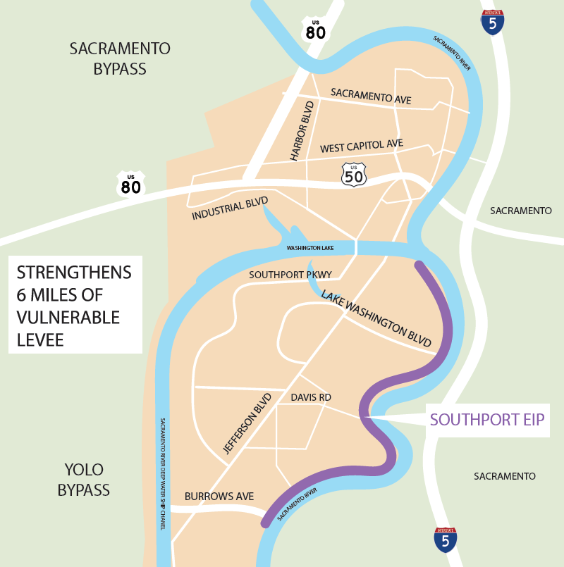 southport levee map