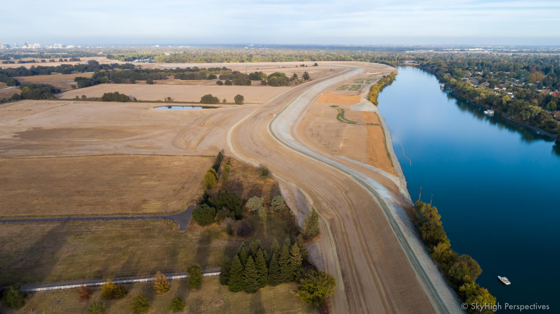 southport levee improvement project october progress picture of contruction