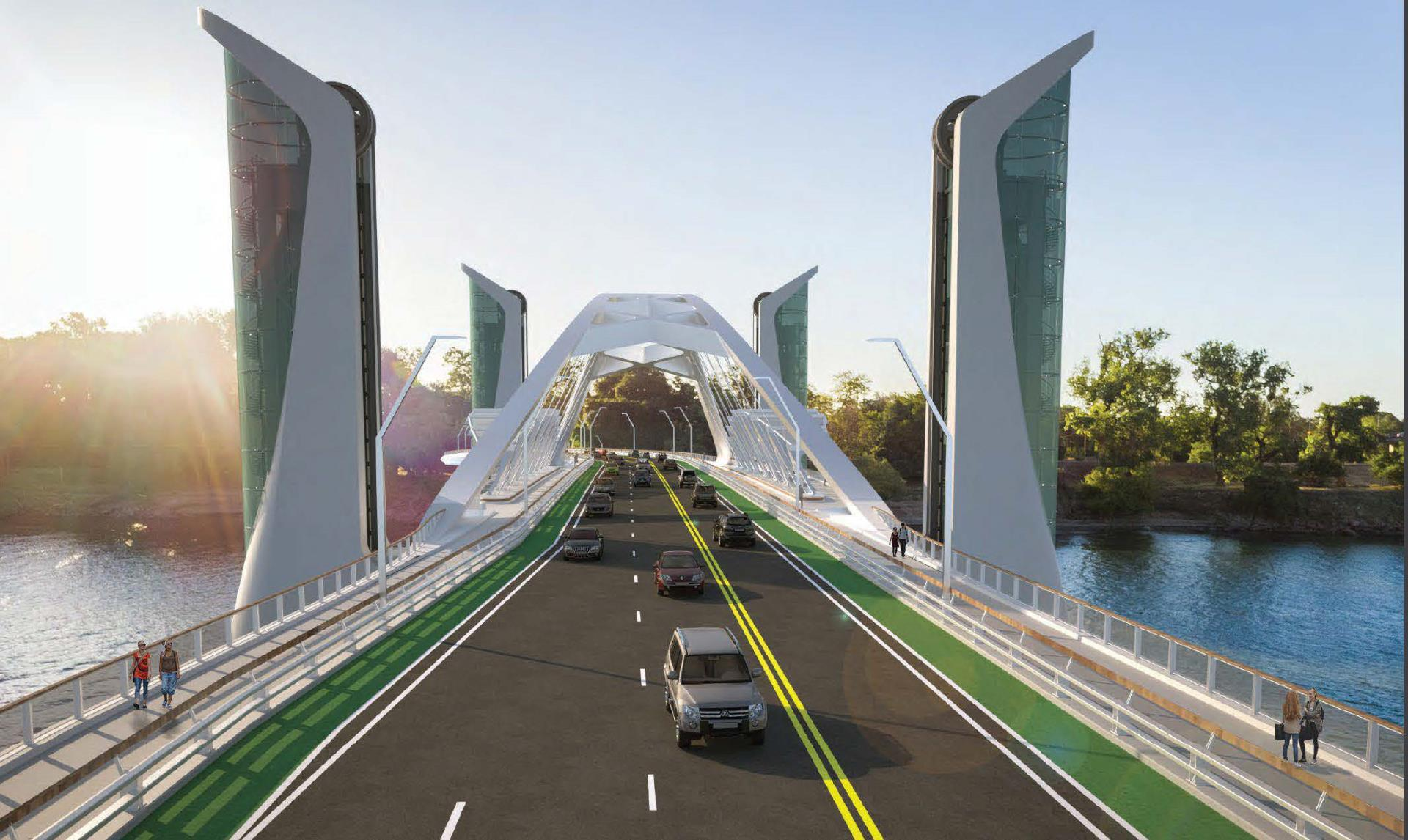 I Street Bridge Replacement rendering of road with cars
